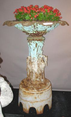 Cast iron garden urn 1800s