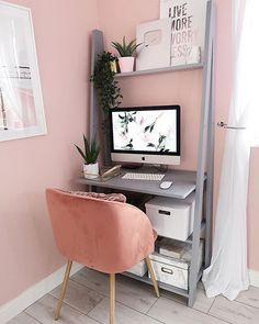 Decorate Your Home Office Like A Pro - Interior Decor and Designing Home Office Space, Home Office Design, Home Office Furniture, Home Office Decor, House Design, Home Decor, Study Room Decor, Bedroom Decor, New Room
