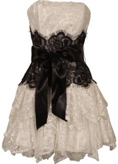 This is my wedding dress! I'm pinning it so that other women who don't want to spend an arm and a leg on a dress, who're a bit curvey, can find it too! Strapless Bustier Contrast Lace and Crinoline Ruffle Prom Mini Dress Junior Plus Size: Clothing Plus Size Prom Dresses, Cheap Prom Dresses, Junior Dresses, Short Dresses, Formal Dresses, Reception Dresses, Prom Dress 2014, Homecoming Dresses, Bridesmaid Dresses