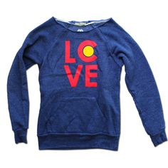 Women's Colorado Love Sweatshirt.  Really love this!