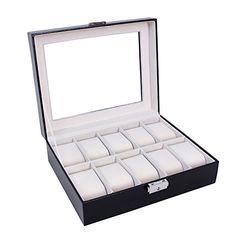 Songmics® Présentoir/coffret/boîte à montre 10 montres Noir partout JWB010 Songmics-Display http://www.amazon.fr/dp/B00EYTTGUS/ref=cm_sw_r_pi_dp_Iu16vb0Q2BDHW