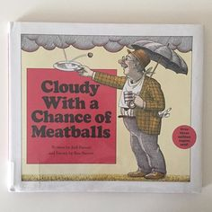 Cloudy With A Chance of Meatballs. #readthelibrary #earlyliteracy #readtothem #kidlit #childrenbooks #librarybag #lovethelibrary #cloudywithachanceofmeatballs