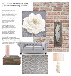 """""""Untitled #163"""" by lifehealthfashion on Polyvore featuring interior, interiors, interior design, home, home decor, interior decorating, Pier 1 Imports, Graham & Brown, Kate Spade and Pottery Barn"""