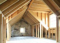 Dormers in attic / above garage -walk-in closet space Garage Attic, Attic Loft, Loft Room, Attic Rooms, Attic Spaces, Attic Bathroom, Attic Truss, Attic Office, Attic Renovation