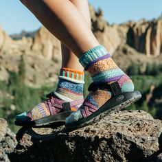 Sandals by Chaco. Socks by Solmate Socks.