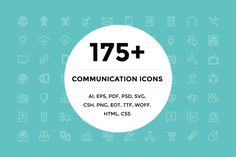 Check out 175+ Communication Icons by Creative Stall on Creative Market
