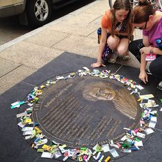 Did you leave a swap for JGL?  Girl Scout swaps encircle Juliette Gordon Low on the DC Extra Mile Walk by Karon, via Flickr