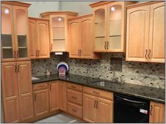 best colors for kitchens with maple cabinets - Google Search