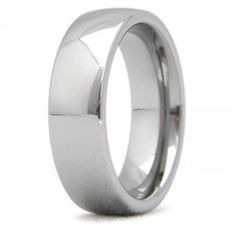 Mens Tungsten 6mm Comfort Fit Dome Engagement Band
