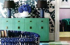 Pair Paradise Blue and navy for an updated take on the coastal color palette. (http://blog.hgtv.com/design/2013/06/03/hgtvs-june-color-of-the-month-paradise-blue/?soc=Pinterest)
