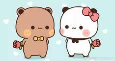 Cute Bunny Cartoon, Cute Cartoon Images, Cute Cartoon Wallpapers, Flower Iphone Wallpaper, Chibi Cat, Cute Couple Wallpaper, Kawaii Illustration, Cute Love Gif, Little Panda