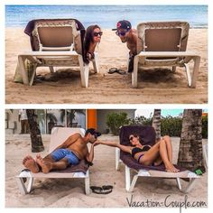 Adorable photo of Kristin  Shadi, aka The Vacation Couple, relaxing at Secrets Aura Cozumel!