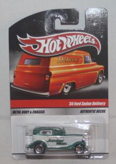 2010 Hot Wheels Sweet Rides Junior Mints '34 Ford Sedan Delivery #HotWheels #Ford Custom Hot Wheels, Hot Wheels Cars, Junior Mints, Ford, Collector Cars, Model Building, Scale, Delivery, Trucks