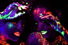 """""""The Glow"""" is a colorful photo series by Brazilian photographer Sarah Leal that feautures human bodies, using neon paints and a black light…"""
