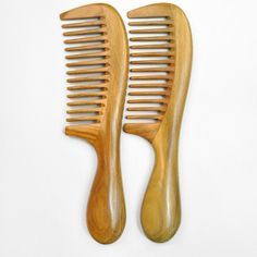 1PCS Portable Daily Use Wooden Natural Sandalwood Handmade Thin Tooth Comb Massage Hair Care Comb #Affiliate