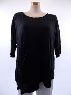 Chalet - Crinkle Black Ona Tunic