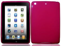 """Amazon.com: Dark Rose Pink {Simple Matte Plain} Soft and Smooth Silicone Cute 3D Fitted Bumper Back Cover Gel Case for iPad Mini 1, 2 and 3 by Apple """"Durable and Slim Flexible Fashion Cover with Amazing Design"""": Computers & Accessories"""