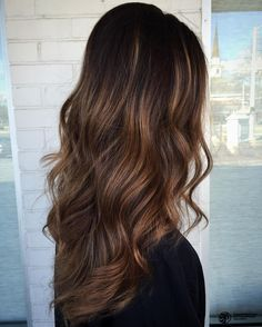 Brown+Balayage+Long+Layered+Hair