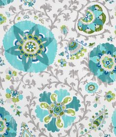 Pretty P. Kaufmann Outdoor Silsila Poolside Fabric that's durable water repellent, anti-pill, anti-bacterial and anti-fungal.