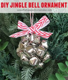 Decorate your tree with this easy to make DIY Jingle Bell Ornament-and join 12 bloggers for 12 days of Christmas for a total of 144 DIY ornament ideas!