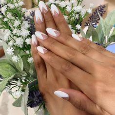 Wedding Manicure, Wedding Nails For Bride, Wedding Day Makeup, Bride Nails, Bridal Nails Designs, Bridal Nail Art, Nail Designs, Engagement Nails, Nail Techniques