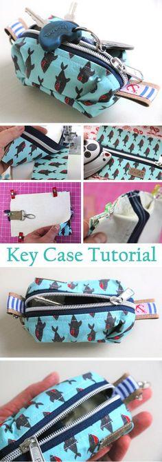 Key Case Bag Tutorial http://www.free-tutorial.net/2017/10/key-case-tutorial.html