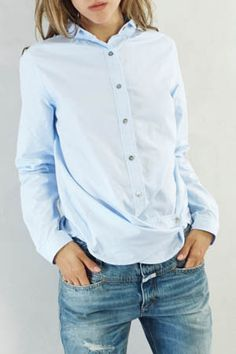 Pomandere Blue Button Down