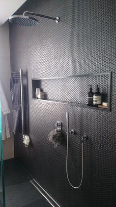 Corian bathroom shelves, custom made Corian basins & Corian bathroom worktop installation in London.