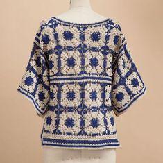 interesting granny crochet top