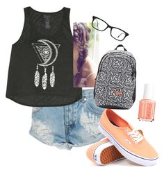 """Untitled #8"" by mayarose1704 ❤ liked on Polyvore featuring One Teaspoon, Billabong, Vans, NIKE, Ray-Ban and Essie"