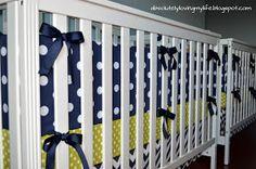 Loving Life: DIY No Sew Crib Bumper