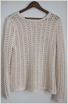 Keksin ja tein: Luonnonvalkoinen pitsineule Pullover, Sweaters, Fashion, Moda, Fashion Styles, Sweater, Fashion Illustrations, Sweatshirts, Pullover Sweaters