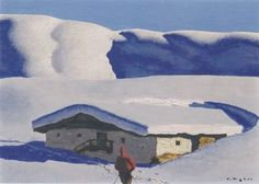 Biography, Literature and Works by Alfons Walde The Austrian painter and architect Alfons Walde was born on February 1891 in the village of Oberndorf near Kitzbühel. Museum, Grafik Design, Mother Nature, Illustration, Skiing, Appreciation, Snow, Culture, Painting