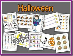 Educational halloween worksheets and activites. Great site for other cute seasonal themes.