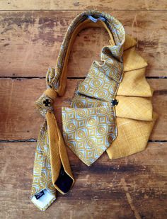 Mustard Vintage Tie Neckwrap by judaleah on Etsy