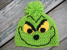 crochet christmas hat pattern free | Christmas Grinch Hat by 7one7 Designs | Crocheting Pattern