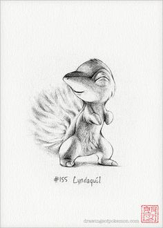 Cyndaquil  5 x 7 print pokemon drawing fire by DrawingsofHeroes, $9.00
