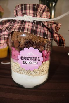 Cowgirl cookie mix favors