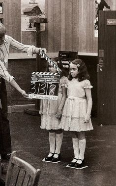 On the set of The Shining. [1980]