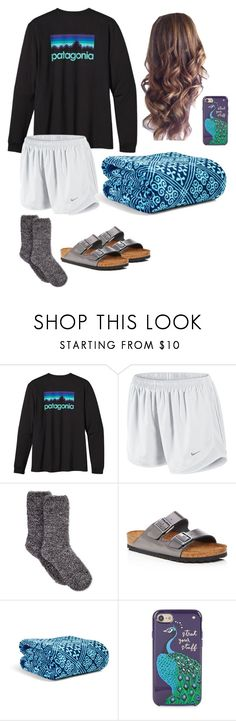 """Summer Stay Awake"" by mirandamf on Polyvore featuring Patagonia, NIKE, Charter Club, Birkenstock, Vera Bradley and Kate Spade"