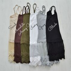 GroopDealz | Lace Shirt Extenders - 12 Colors!