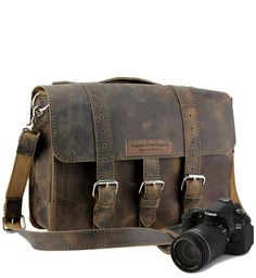 Leather Camera Bag for Large Lenses: American Made Camera Bags