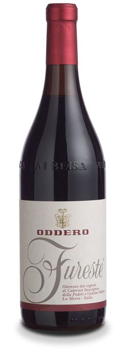 "Oddero Langhe Rosso Furestè Variety: Cabernet Sauvignon 60%, Merlot 20%, Dolcetto 20% Intense ruby-red color with purple tinges, a bouquet of red ripe fruits, blackberry, cherry, blackcurrant and blueberry, with spicy and varietal notes. Full in the mouth, soft and enveloping tannins that ""mark"" the territory, clean and fresh scent hints. Wine of young impact, pleasant from the very first months, with a good ageing evolution."