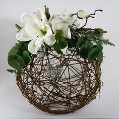 *This listing is for the exact item shown*  Grapevine Sphere This handmade tabletop Grapevine Sphere is the perfect centerpiece for any occasion.
