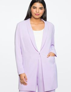 Long Tailored Blazer from eloquii.com