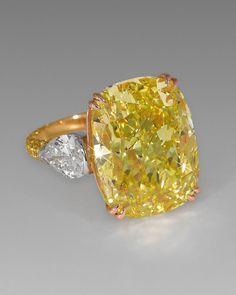 Bague David Morris en diamant jaune
