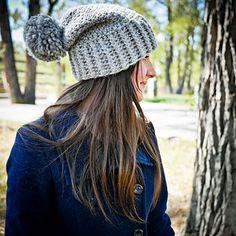 'The Ballintoy' is a slouchy crochet hat, that has just the right amount of structure, slouch, and squish! You will need bulky yarn to make this hat. Chunky Crochet Hat, Crochet Slouchy Hat, Slouchy Beanie, Knitted Hats, Crochet Hats, Pom Pom Hat, Winter Hats, Crochet Patterns, Knitting