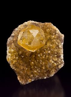 Calcite with Orpiment from Shimen Mine, Hunan Prov., China
