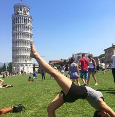Go to Europe in summer, they said. It would be fun, they said. Literally sweating bullets trying to get the perfect #Pisa picture