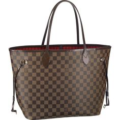 Louis Vuitton Outlet Damier Ebene Canvas Neverfull MM N51105 $216.04